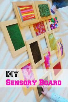 nl DIY crafts: Sensory board voor sensopatisch spelen met baby's en dreumesen – Mamaliefde.nl Related Things to Do When You. Baby Sensory Board, Sensory Wall, Sensory Boards, Sensory For Babies, Diy Sensory Toys, Sensory Rooms, Kids Crafts, Baby Crafts, Diy And Crafts
