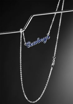 Mother's Day Gift Idea: Dallas Cowboys Script Logo Necklace