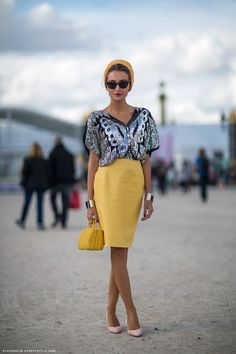 Great way to wear my vintage butterfly top. Sequin chic via Heart of Gold and Luxury: