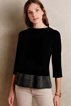 Evi Pullover #anthropologieg. I don't have any top with the extended edge trend. This is trendy but classic.