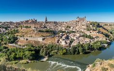 Toledo, 4k, river, panorama, summer, Spain