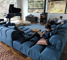 Living Room Sofa, Living Room Decor, Lounge Couch, L Couch, Most Comfortable Bed, Modul Sofa, Big Sofas, Couches, Sectional Sofa