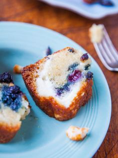 Blueberry Cream Cheese Muffintop Bread