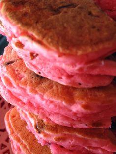 Turnips 2 Tangerines: Strawberry Pancakes with Mini Chocolate Chips