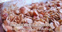 Homemade Maple Almond Granola