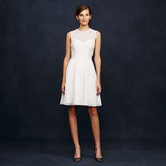 Ivory Clara dress in silk chiffon - Weddings & Parties - Women's new arrivals - J.Crew