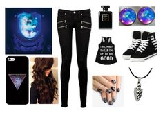 """""""Starset"""" by stephanie727 ❤ liked on Polyvore featuring Casetify, Paige Denim, yeswalker, alfa.K and Chanel"""