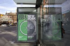 The Bike Expo New York campaign combines the circular forms of a bicycle wheel and a manhole cover
