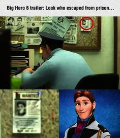 """""""Sweet Muppety Odin, Disney fans are incredible/insane. A Frozen Easter Egg has already been found in Big Hero Disney Pixar, Disney Jokes, Funny Disney Memes, Disney Facts, Disney Marvel, Funny Relatable Memes, Disney And Dreamworks, Disney Frozen Facts, Funny Facts"""