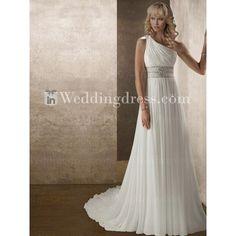 Beach Wedding Dress,Informal Bridal Gown ($237) ❤ liked on Polyvore featuring dresses, wedding dresses and wedding dress