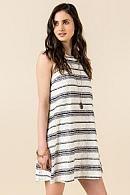 Collina Striped Lace Dress