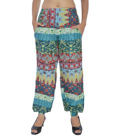 Women Multi-colored Printed Blue Sky Blue Cotton Harem Pants Trousers, http://www.snapdeal.com/product/women-multicolored-printed-blue-sky/1540075434