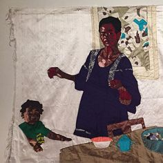"""Mother and Child"" (detail), by Billie Zangewa History Books, Art History, Guerrilla Girls, Mother And Child, Black Is Beautiful, African Art, Black Art, Textile Art, Art Drawings"