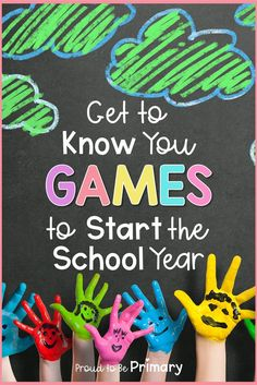 Get To Know You Games to Start the School Year
