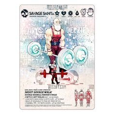Most Savage Walk - The Hardest Exercise In The World. #Savage #Santa #powerlifting