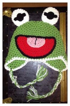Crochet Kermit The Frog Hat. $25.00, via Etsy.