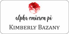 Alpha Omicron Pi Name Tags and Sorority ID Name Badges for events, members and pledges