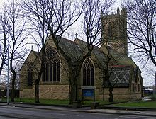 St. Peter's Church, Swinton, Greater Manchester, England - Christening place (27 May 1792) of Mary Anne Parker (1792 - bef 1838), daughter of Edward Parker (1763 - 1826) and Sarah Leaper Parker (1765 - 1841).