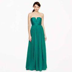 Emerald green Jcrew gown
