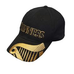 95d7365f0c359 Amazon.com  Guinness Black Baseball Cap with Gold Guinness Harp Logo   Sports   · IrlandaGorra De Béisbol ...