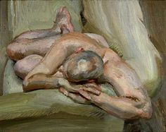 Photo Gallery: Lucian Freud, The Painter's Etchings: Leigh on a Green Sofa by Lucian Freud