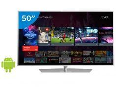 "Smart TV LED 4K Ultra HD 50"" Philips 50PUG6700/78 - Android Conversor Integrado 4 HDMI 3 USB Wi-Fi"