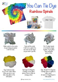 How to Tie Dye a rainbow spiral by Magic Starfish