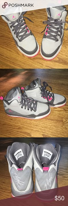 Air Jordan Sc 3's wolf grey and pink Sc-3's great condition besides a little dirt but barely noticeable and can be clean easily. Jordan Shoes Sneakers