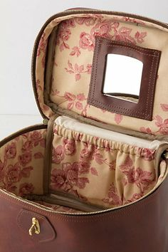 """Heritage Train Case  $458.00  An Anthropologie exclusive from J.W. Hulme Co.  Bag can be sent back to J.W. Hulme Co. for complimentary monogramming  Zip and clasp closure  Leather; cotton lining  7.5""""H, 12""""W, 8""""D  26"""" strap drop  USA  Style #: 26173260"""