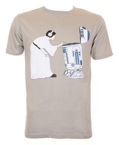 Funny Princess Leia DJ R2D2 Music Tshirt by BlackSheepTees on Etsy, £9.99