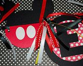 Mickey & Minnie Mouse Birthday Banner FREE SHIPPING. $36.00, via Etsy.