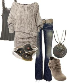 winter outfit. Love the sweater.