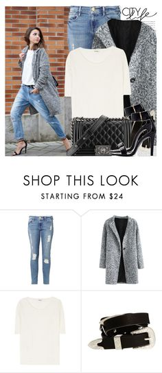 """""""2002. Blogger Style: Lovely Pepa"""" by chocolatepumma ❤ liked on Polyvore featuring Oris, Frame, Acne Studios, Chanel, ASOS, Zara, chic, BloggerStyle and topset"""