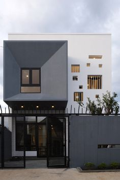 Image 1 of 18 from gallery of MHD House / Architecture Studio. Courtesy of Architecture Studio Modern Architecture Design, Facade Design, Exterior Design, Interior Architecture, Modern Minimalist House, Minimalist Decor, Building Design, Building A House, Box Houses