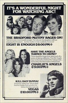 1979 ABC Programming, TV Guide — Eight is Enough (1977-81), Charlie's Angels (1976-81) & Vega$ (1978-81)