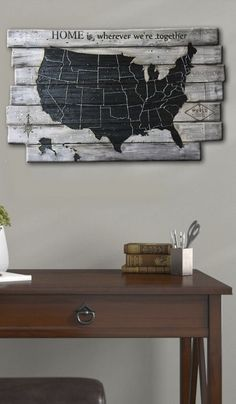 Wood Map of the USA Map Art Map State USA Custom Wood Signs Engraved Carved Wood Signs Wood Carved Panel Natural Wood Wall Art Wood Art  USD 155.78+