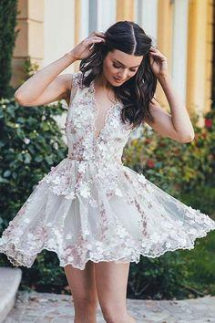 Prom Dresses White #PromDressesWhite, Prom Dresses Lace #PromDressesLace, White Lace Prom dresses #WhiteLacePromdresses, Prom Dresses Short #PromDressesShort, Prom Dresses Cheap #PromDressesCheap