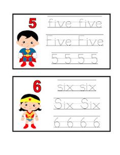 Preschool Printables: Lots of different theme sets for preschool.  I thought it was so cool that she included girl superheros!