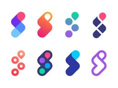 Logo concept versions for Scooptrack | Search engine by Vadim Carazan