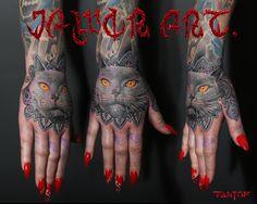 hand cat tattoo# cat onaments tattoo