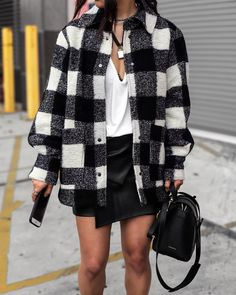 Chic Winter Outfits, Cute Fall Outfits, Cool Outfits, Flannel Outfits, Cardigan Outfits, Dress Outfits, Casual Outfits, Jacket Outfit, Plaid Jacket