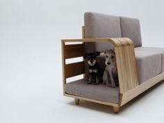 Canapé The dog house sofa par Seungji Mun Sofa Design, Interior Design, Pet Furniture, Furniture Design, Furniture Ideas, Ikea Sofas, Designer Couch, Sofa Home, Cozy Living