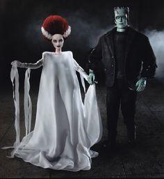 Barbie in OOAK Frankenstein's Monster and Mate