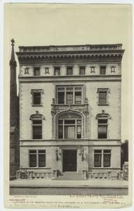 Club-house of the American Society of Civil Engineers, 220 West Fifty-seventh Street, New York, NY. NYPL.