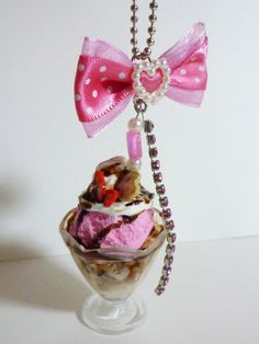 Parfait Charm  Deco Sweets Decoden Kawaii by HoriSweetsandFaeries, ¥800
