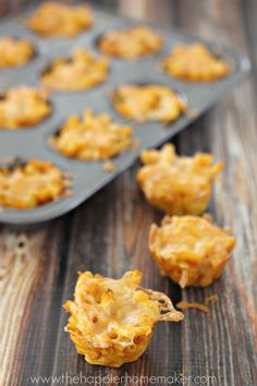 Macaroni and Cheese Bites- baked in a little muffin tin-the kids loved this!