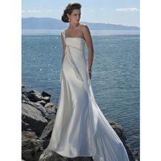 Not gonna lie! I love this toga style Greek wedding dress.
