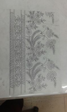 Discover thousands of images about Gggggggg Zardozi Embroidery, Hand Work Embroidery, Hand Embroidery Stitches, Embroidery Techniques, Beaded Embroidery, Border Embroidery Designs, Fabric Painting, Sewing Patterns, Etchings