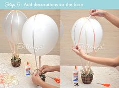decora centros de mesa con globos, verás que buen resultado