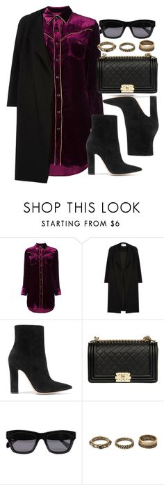 """Style #11631"" by vany-alvarado ❤ liked on Polyvore featuring Yves Saint Laurent, River Island, Gianvito Rossi, Chanel, CÉLINE and Forever 21"